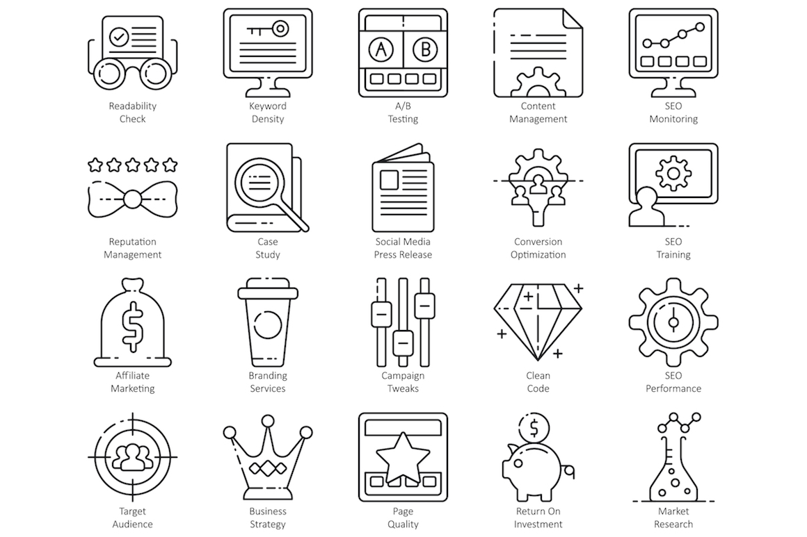100 Online Education Icons