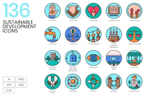 136-Sustainable-Development-Icons-cover