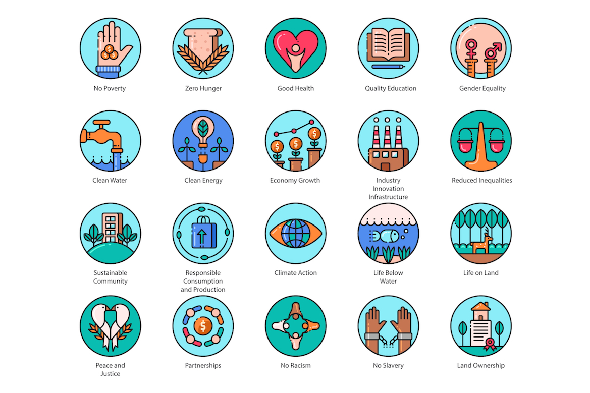 136 sustainable development icons design cuts 136 sustainable development icons design cuts