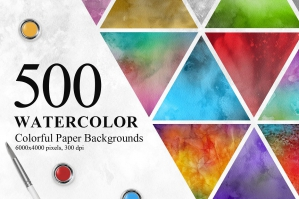 500-Watercolor-Backgrounds-Collection-cover