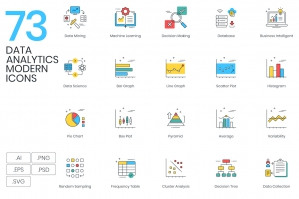 73-Data-Analytics-Modern-Icons-cover