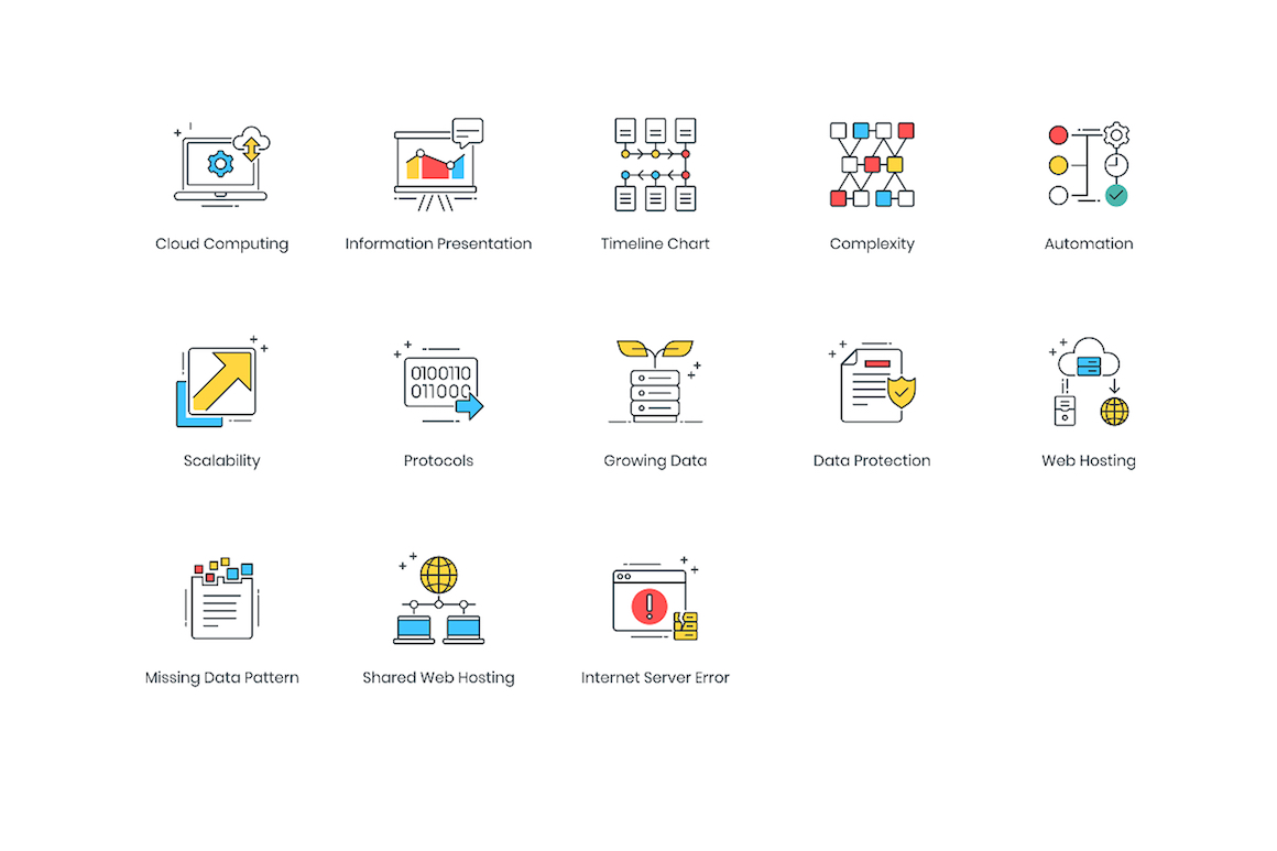 73 Data Analytics Modern Icons