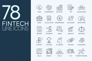 78-Fintech-Line-Icons-cover