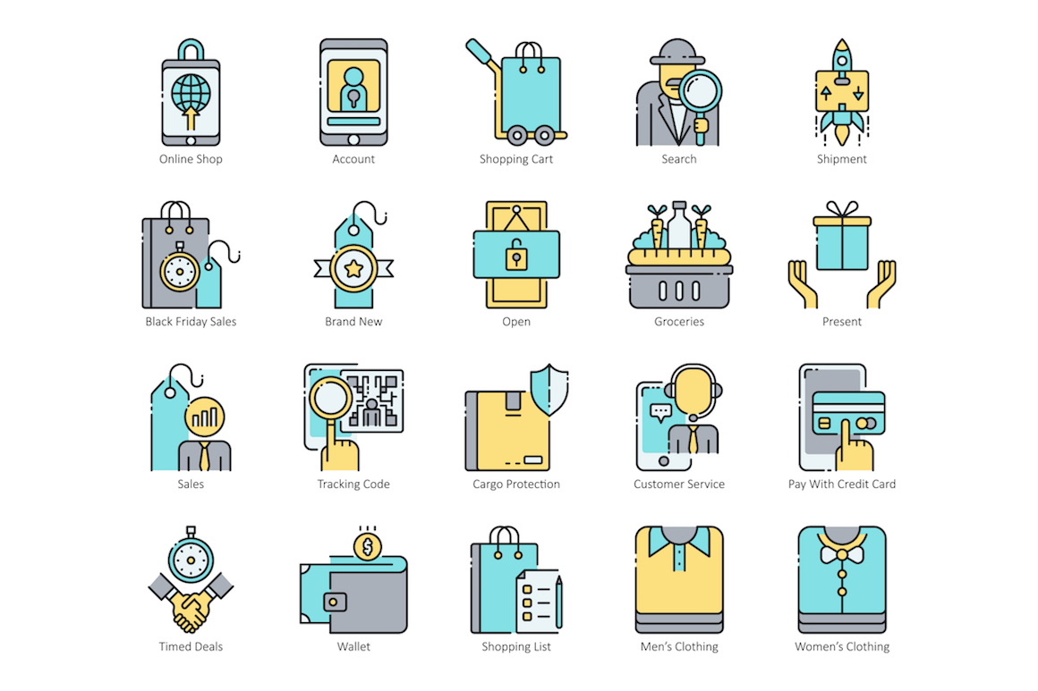 80 E-Commerce Icons