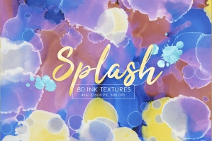 80 Splash Ink Textures