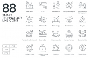 88-Smart-Technology-Line-Icons-cover