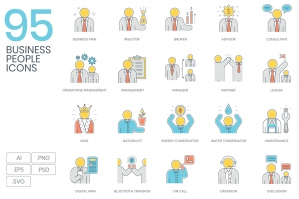 95-Business-People-Color-Line-Icons-cover