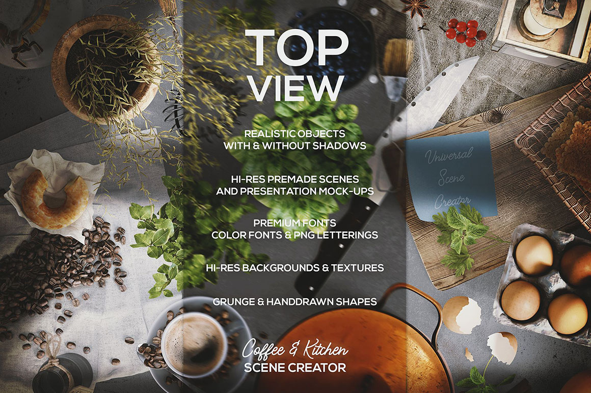 Coffee Scene Creator - Top View