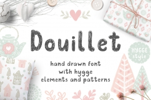 Douillet-Font-with-Hygge-Clipart-cover