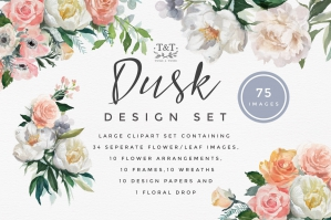 Dusk-Flower-Watercolour-Clipart-cover