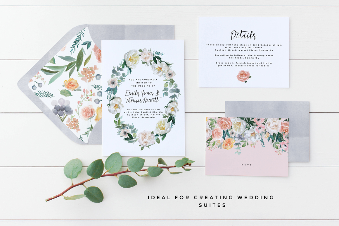 Dusk - Flower Watercolour Clipart