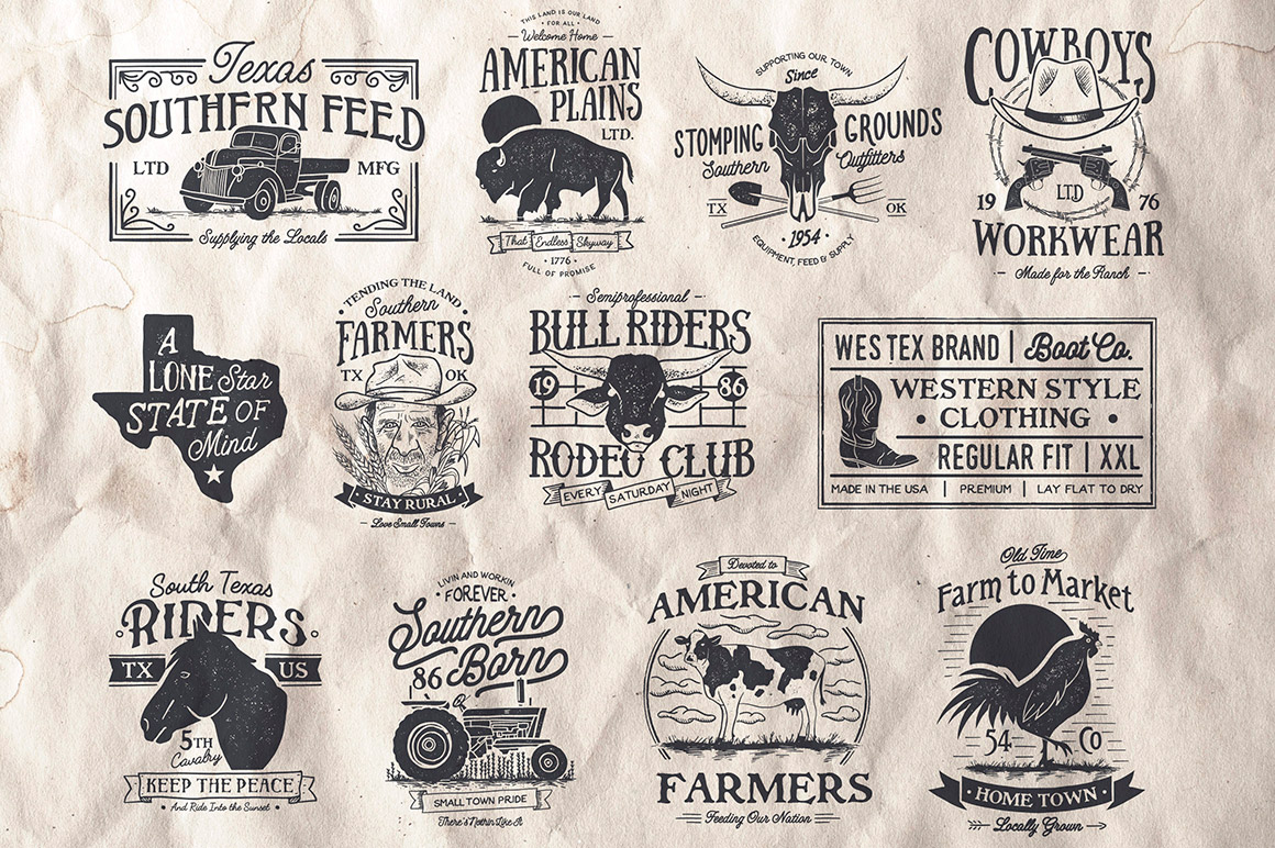 Farmhouse Vintage Badges and Logos