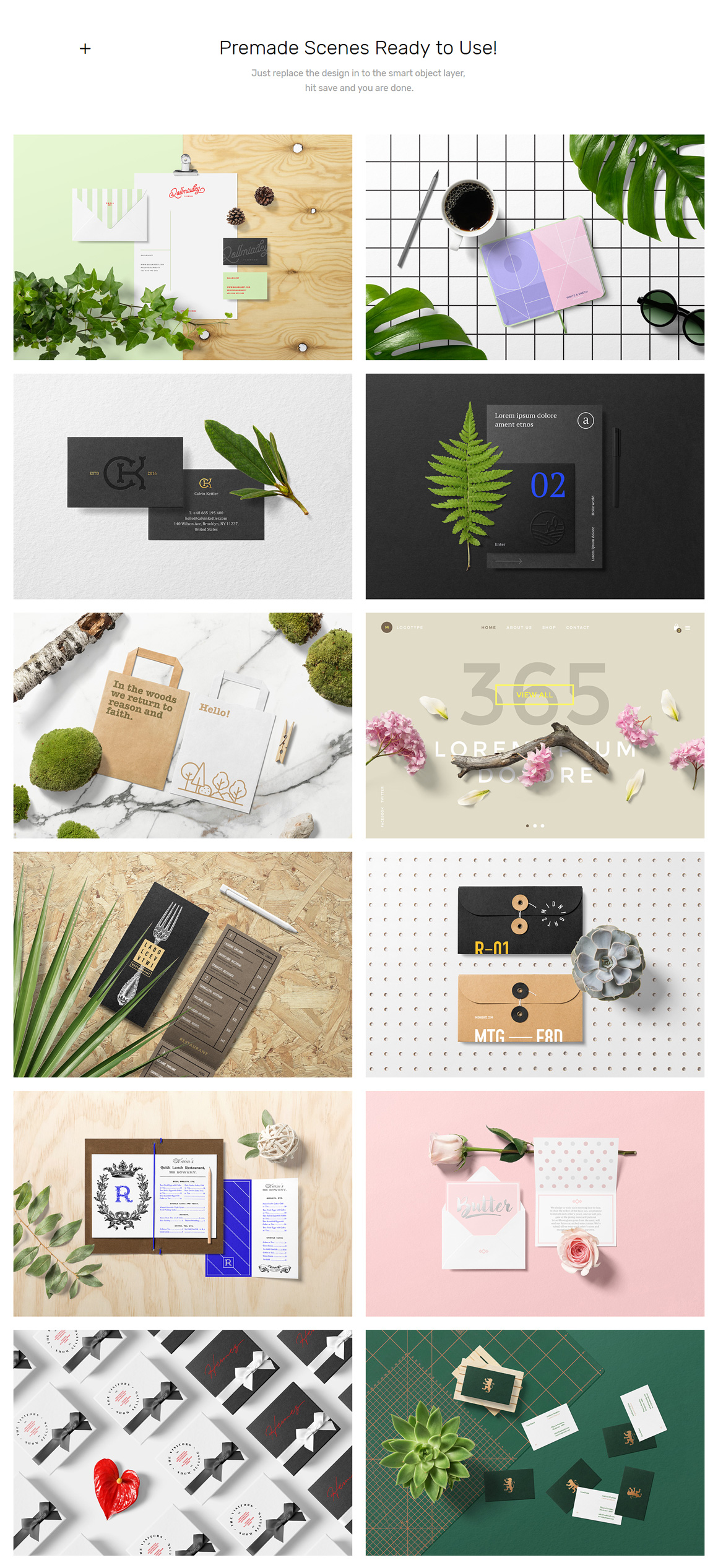 Floral Mockups Amp Stationery Starter Pack Design Cuts
