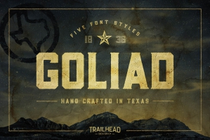 Goliad – A Vintage Texas Style Font