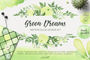 Green-Dreams-Watercolor-Design-Kit-cover