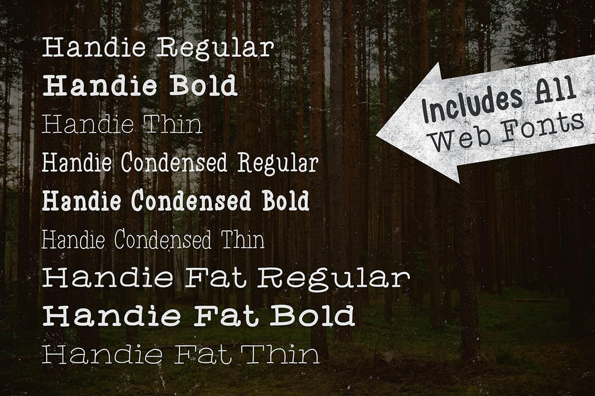 Handie Fonts – Over 1800 Glyphs