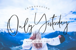 Only-Yesterday-Hand-Drawn-Font-cover