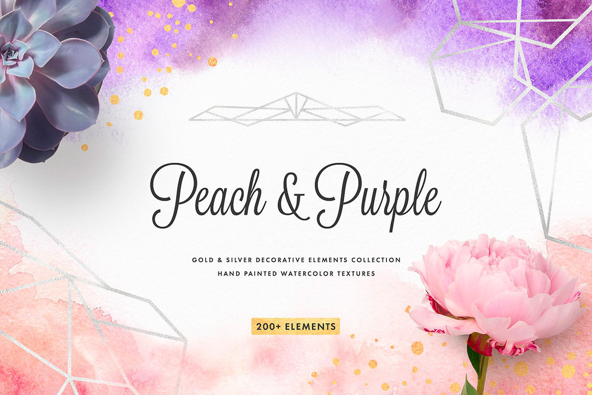 Peach & Purple Decor Collection