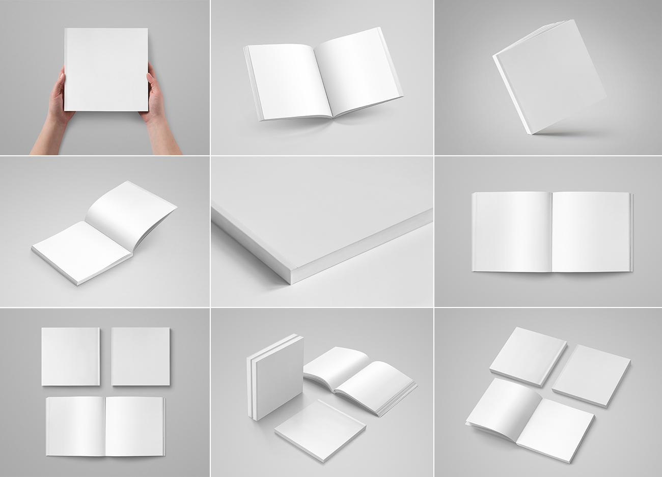 Softcover Square Book Mock-Up