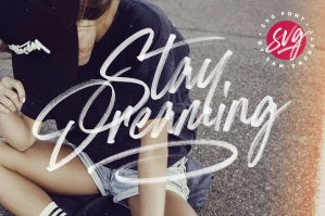 Stay-Dreaming-SVG-Font-cover
