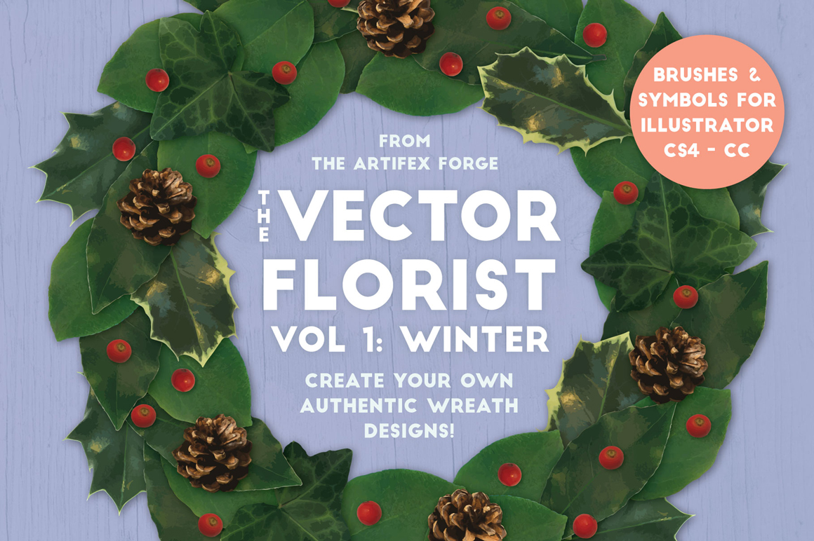 The Vector Florist Brushes Winter Design Cuts