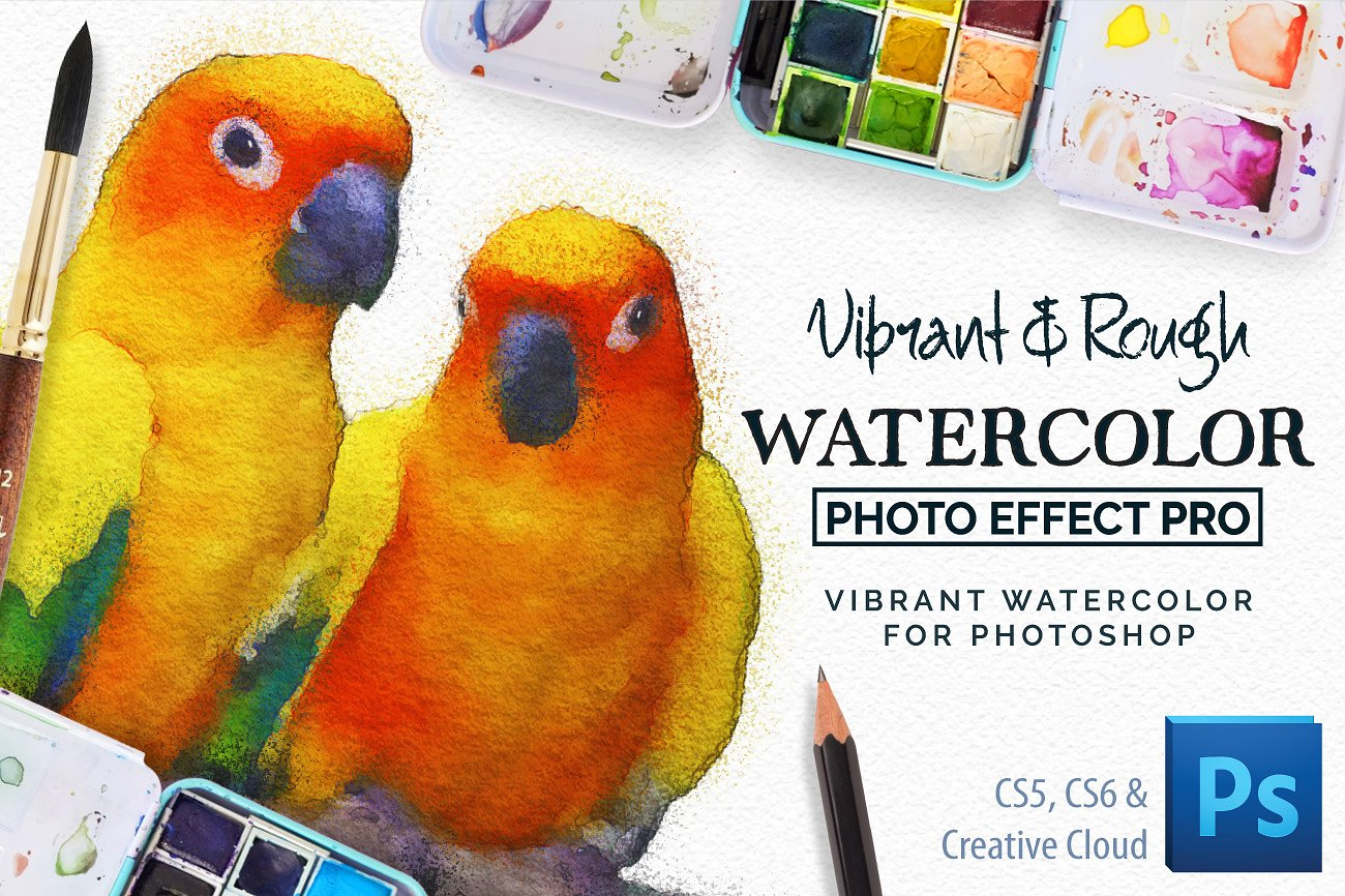 Vibrant Watercolor Photo Effect Kiteverdrifter