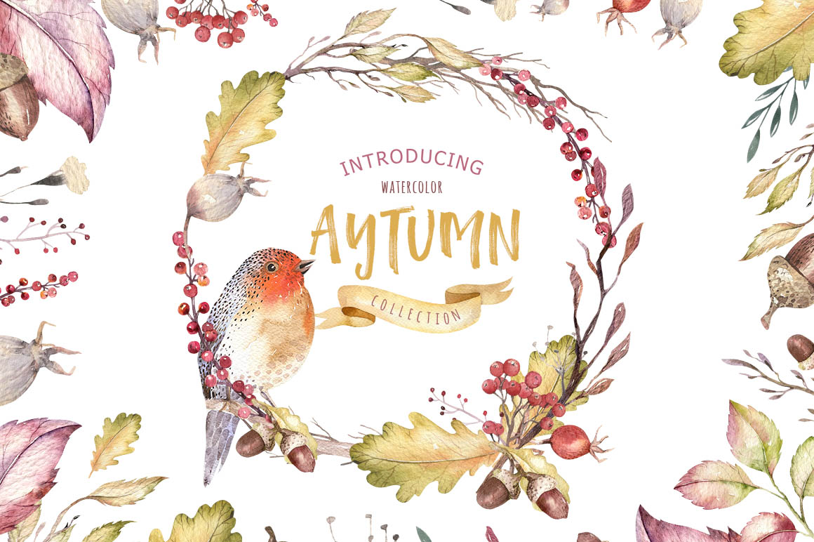Watercolor Autumn Mood Vol2