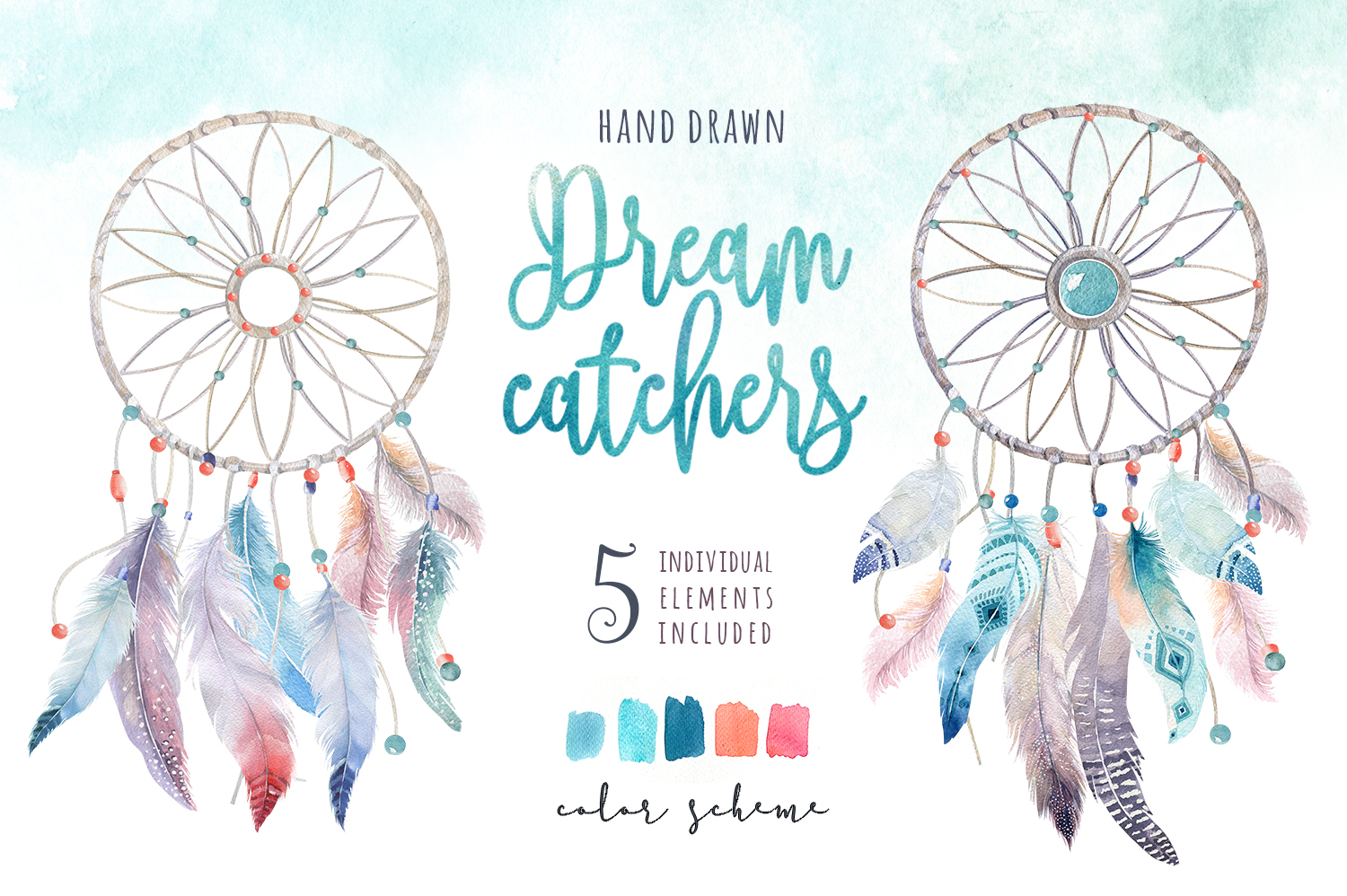 Watercolor Dreamcatcher III