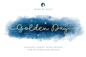 xGolden-Day-Font-with-Extras-and-Shapes-cover