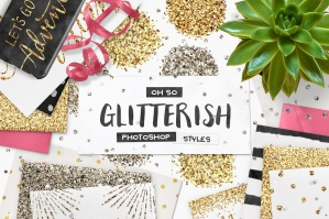 100-Glitter-Photoshop-Layer-Styles-Plus-Bonus-cover