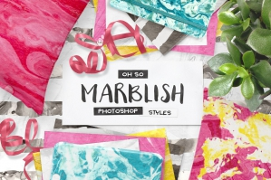 100-Photoshop-Marble-Paper-Layer-Styles-cover