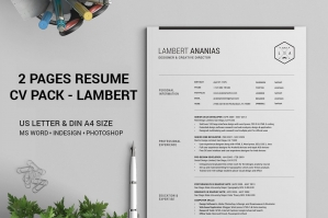 2-Pages-Resume-CV-Pack-Lambert-cover