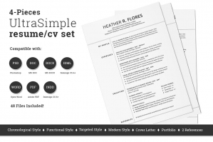 4-Pieces-Resume-CV-Set-Template-cover