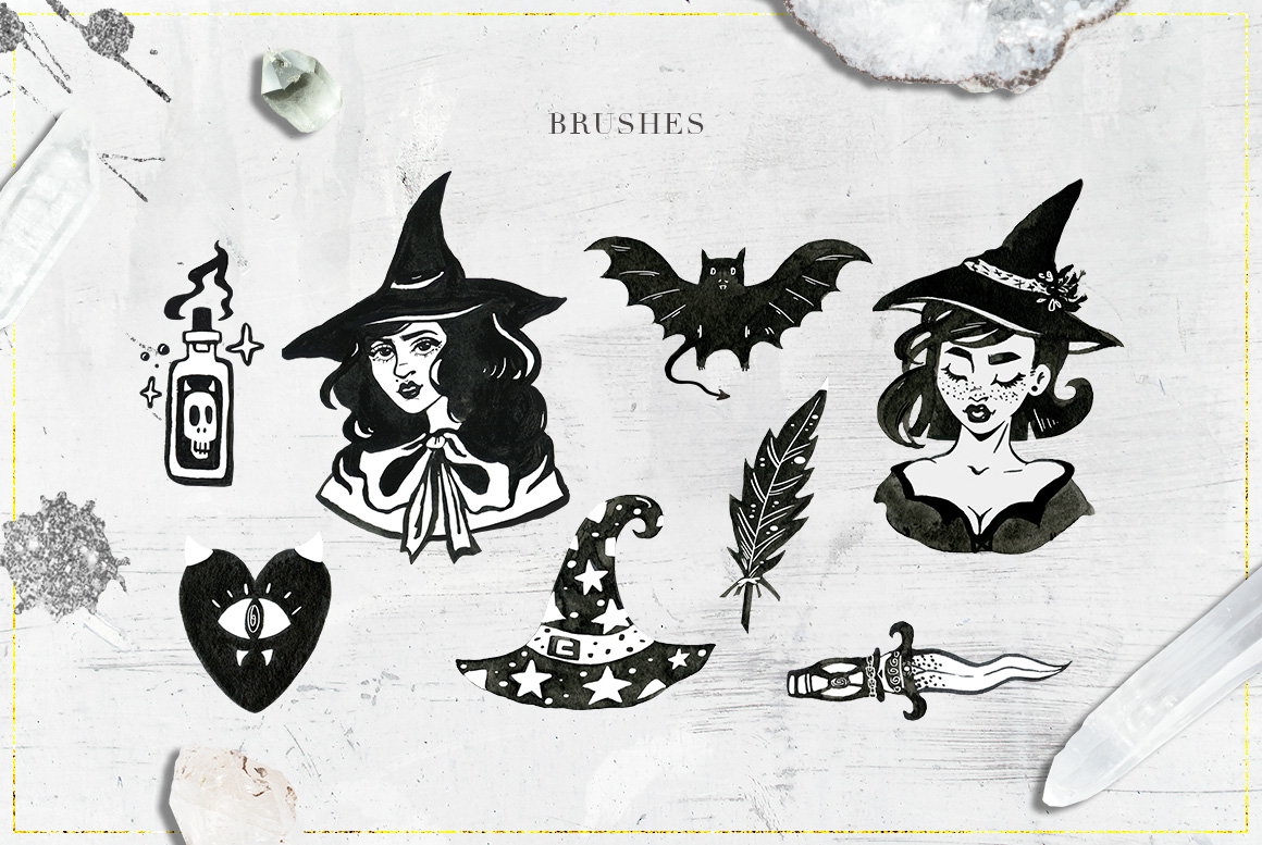 75 Witchcraft Photoshop Brushes