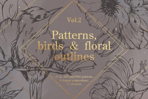 Bird-Outlines-and-Floral-Patterns-cover
