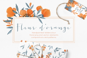 Floral-Watercolor-Graphics-Bundle-Fleur-dOrange-cover