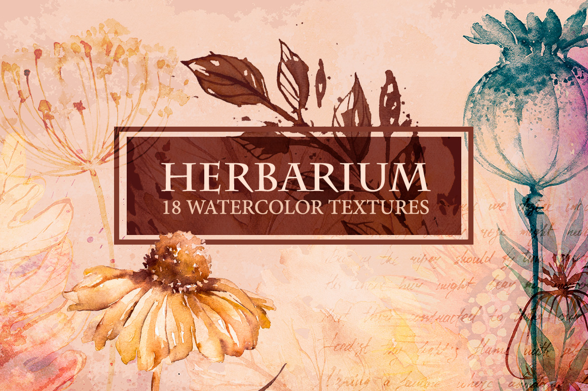 Herbarium - Watercolor Textures