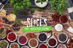 Herbs-And-Spices-Isolated-Food-Items-cover