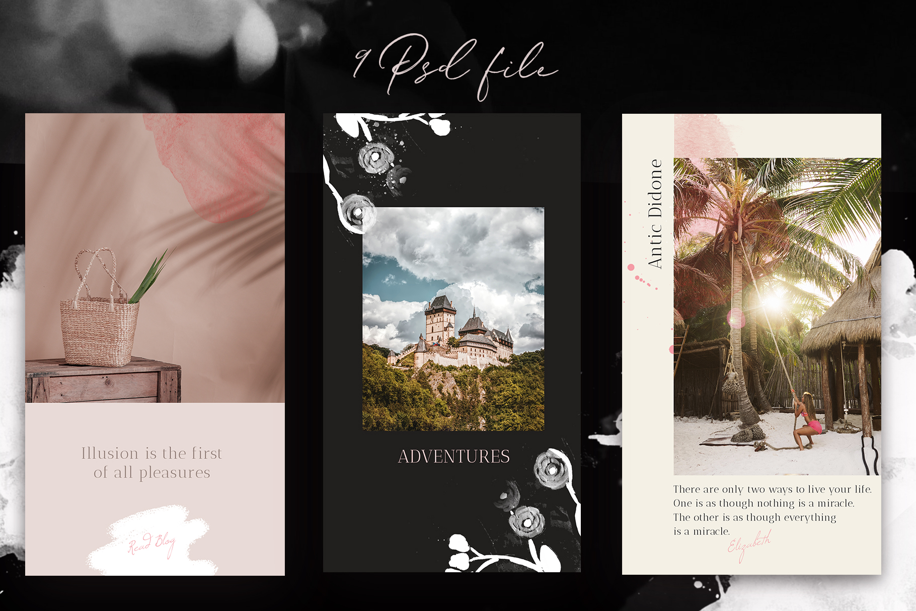 Instagram Grid & Stories template