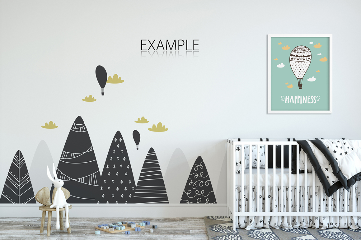Kids Wall & Frames Mockup Bundle - 4