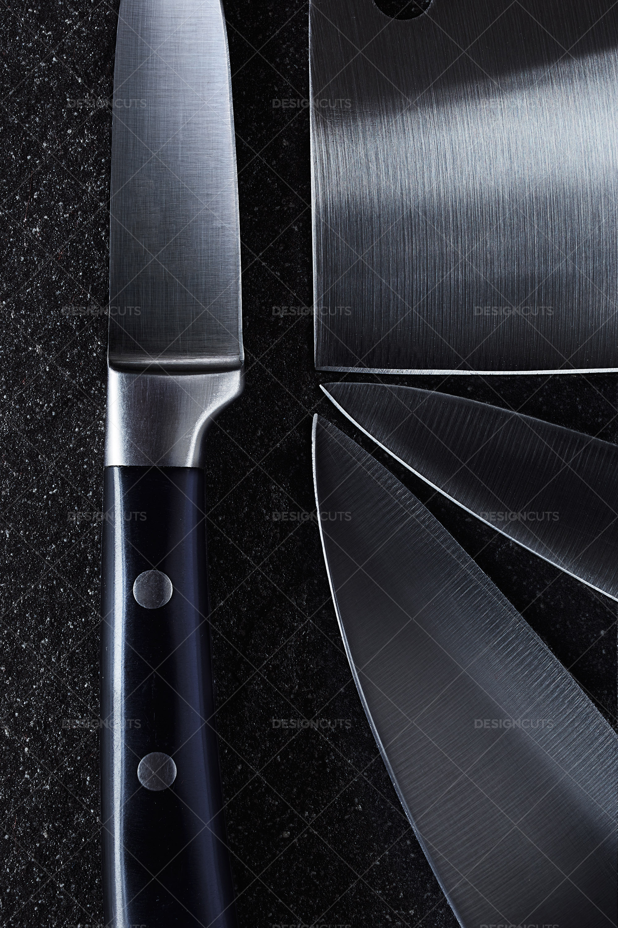 Kitchen Knives Closeup