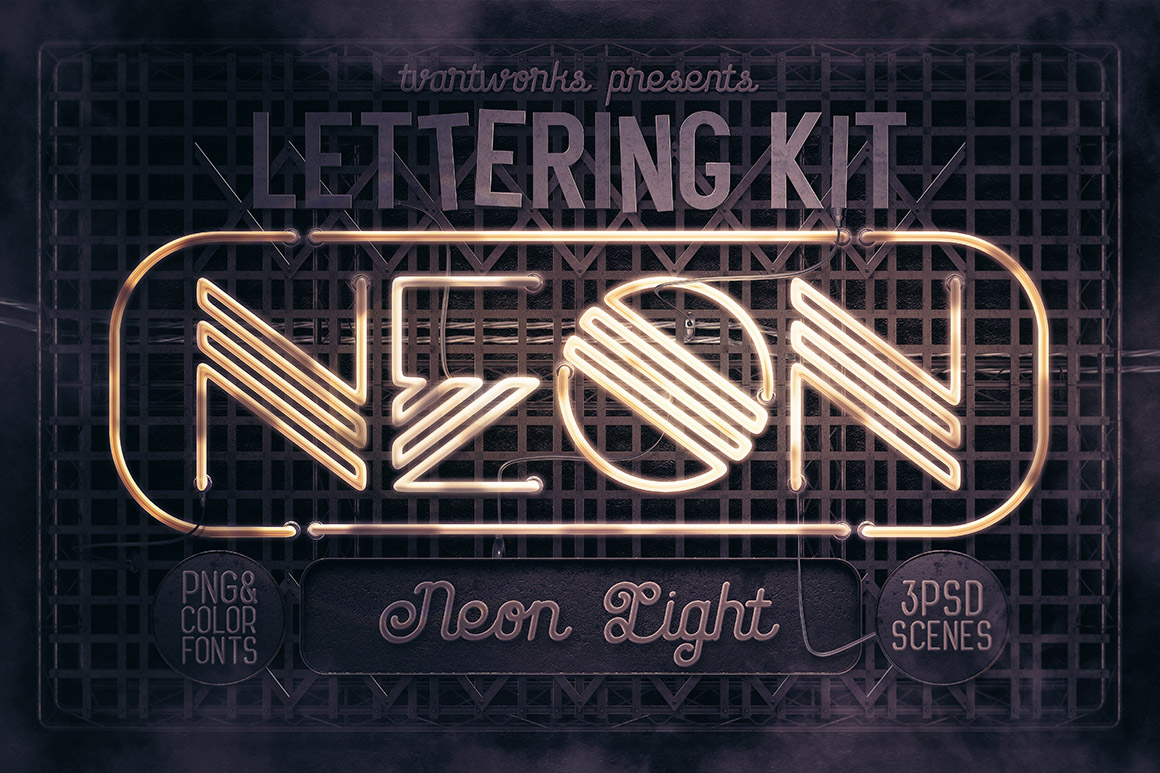 Neon Light Lettering Kit