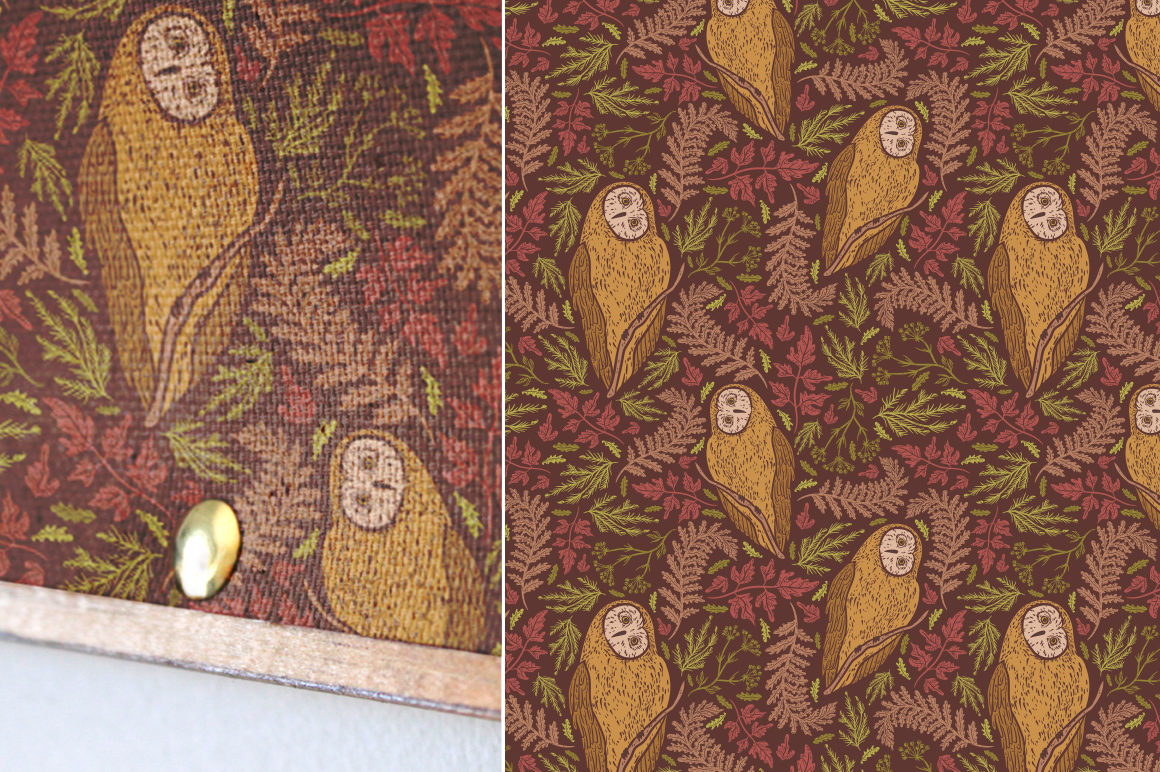 Owls and Floral Patterns