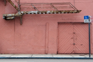 Pink Wall And Rusty Stairs In Miami