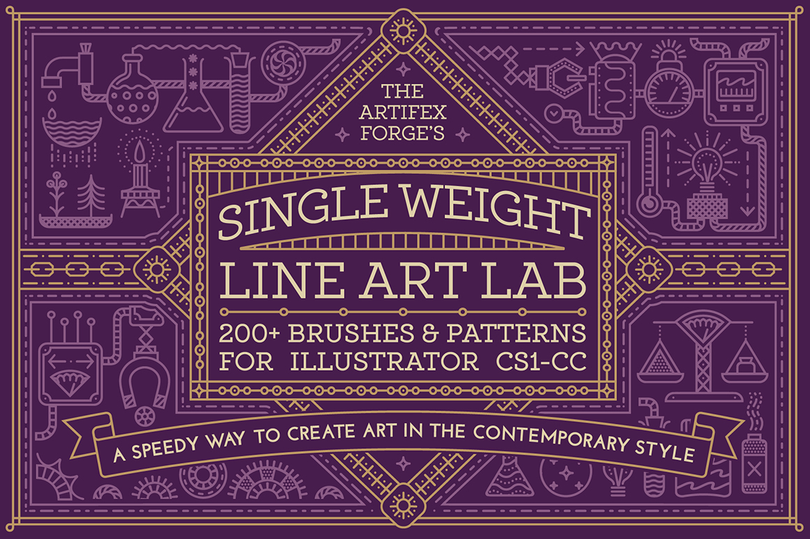 Single Weight Line Art Lab