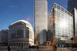 Sunlit City Buildings In London