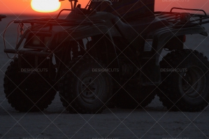 Quad Biking With The Rising Sun In The Makgadikgadi Pan, Botswana