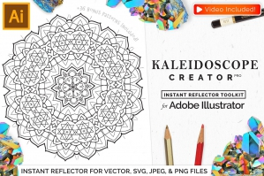 Vector-Kaleidoscope-for-Adobe-Ai-cover