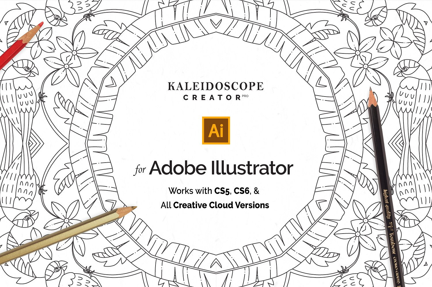 Vector Kaleidoscope for Adobe Ai