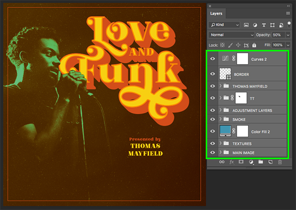Love And Funk Album Cover Design